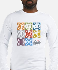 Avengers Squares Long Sleeve T-Shirt