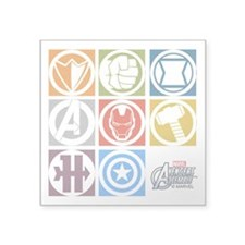 "Avengers Squares Square Sticker 3"" x 3"""