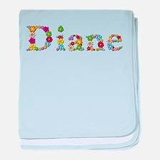 Diane Bright Flowers baby blanket