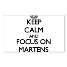 Keep calm and focus on Martens Decal