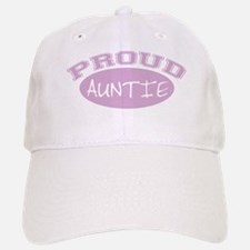 Proud Auntie (Pink) Baseball Baseball Cap