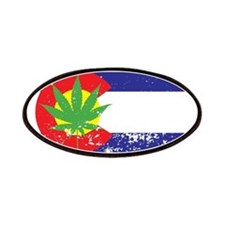 Colorado State Flag Marijuana Pot Weed Leaf Patche
