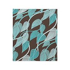 Leaves Pattern Throw Blanket