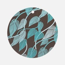Leaves Pattern Round Ornament