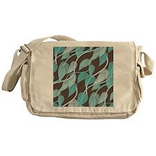 Leaves Pattern Messenger Bag