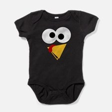 Funny Thanksgiving Turkey Face Baby Bodysuit