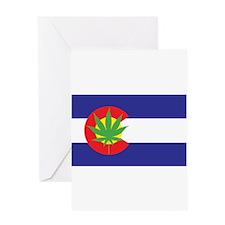 Colorado State Flag Marijuana Pot Weed Leaf Greeti