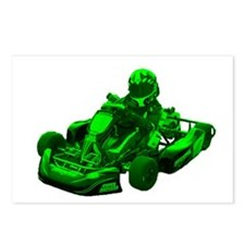 Go Kart in Green Postcards (Package of 8)