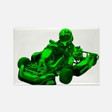 Go Kart in Green Magnets