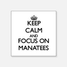 Keep calm and focus on Manatees Sticker