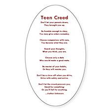 Teen Creed Oval Decal