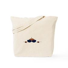Baby Peeking Sunglasses (Dark Skin) Tote Bag
