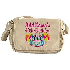 40TH PARTY Messenger Bag
