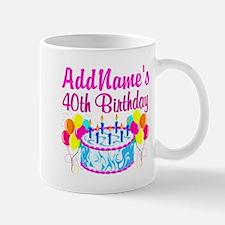 40TH PARTY Small Small Mug