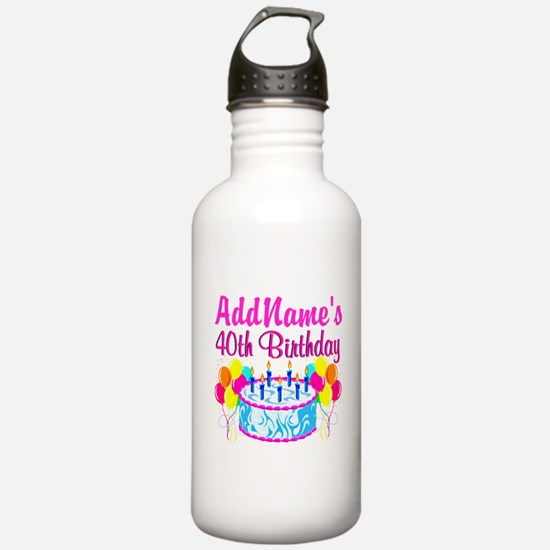 40TH PARTY Sports Water Bottle