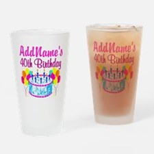 40TH PARTY Drinking Glass