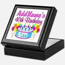 40TH PARTY Keepsake Box