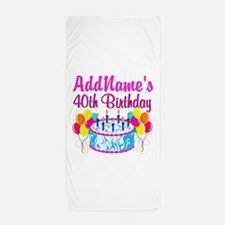 40TH PARTY Beach Towel
