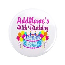 "40TH PARTY 3.5"" Button"