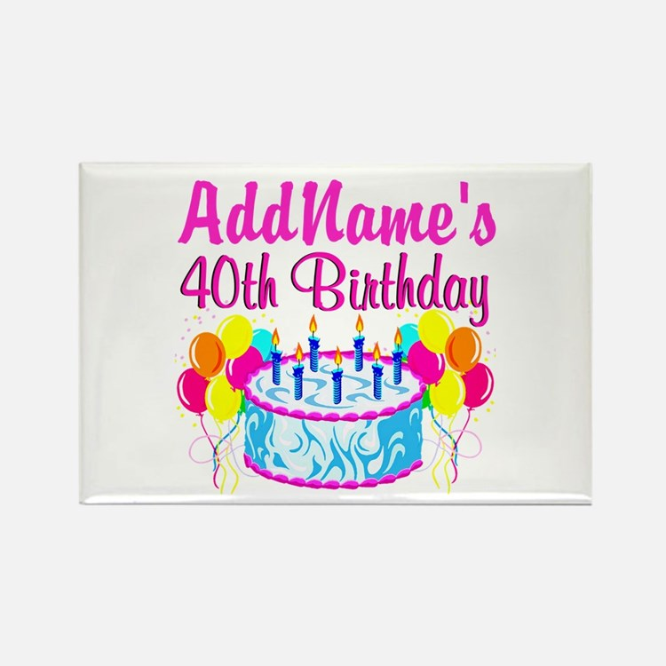 40TH PARTY Rectangle Magnet