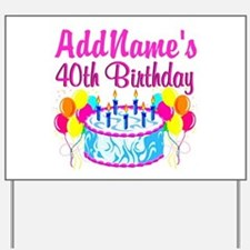 40TH PARTY Yard Sign
