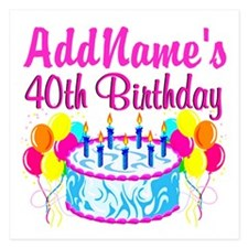 40TH PARTY 5.25 x 5.25 Flat Cards