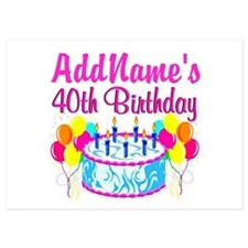 40TH PARTY 5x7 Flat Cards