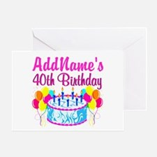 40TH PARTY Greeting Card