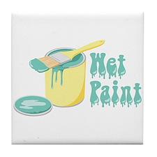 Wet Paint Tile Coaster