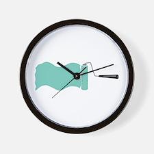 Paint Roller Wall Clock
