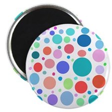 Multi Colored Polka Dots Magnet