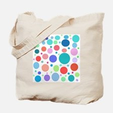 Multi Colored Polka Dots Tote Bag