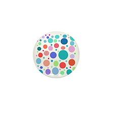 Multi Colored Polka Dots Mini Button