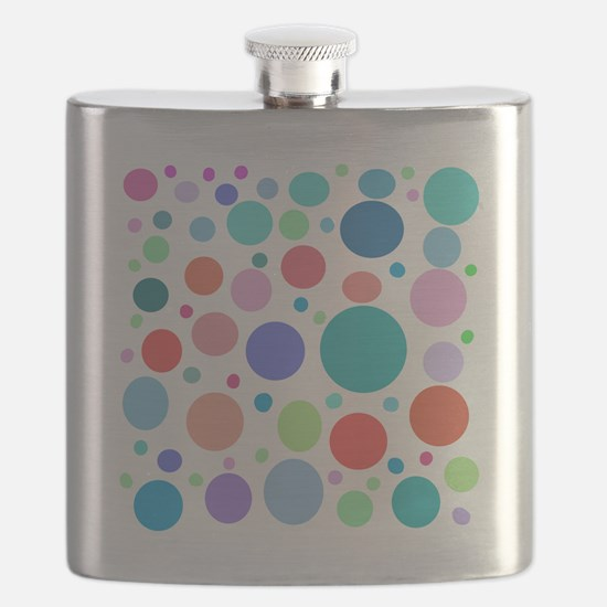 Multi Colored Polka Dots Flask