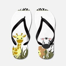 Cute Jungle Safari Animals Flip Flops
