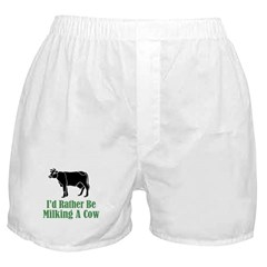 Milking A Cow Boxer Shorts