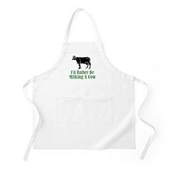 Milking A Cow BBQ Apron