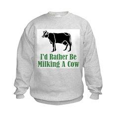 Milking A Cow Sweatshirt