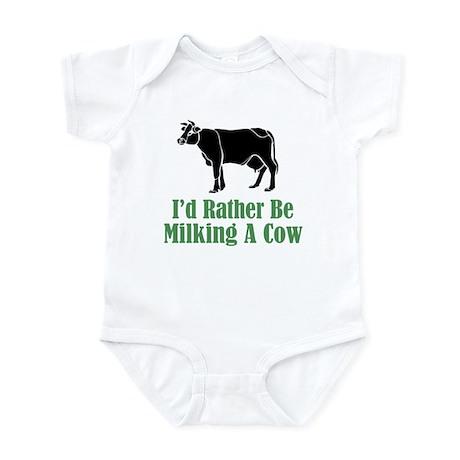 Milking A Cow Infant Bodysuit