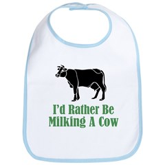 Milking A Cow Bib