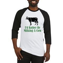 Milking A Cow Baseball Jersey