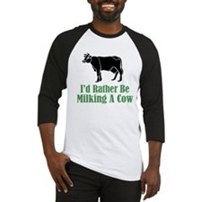 Milking A Cow Baseball Jersey