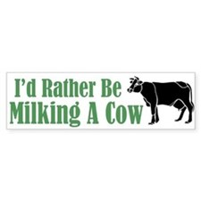Milking A Cow Bumper Bumper Sticker