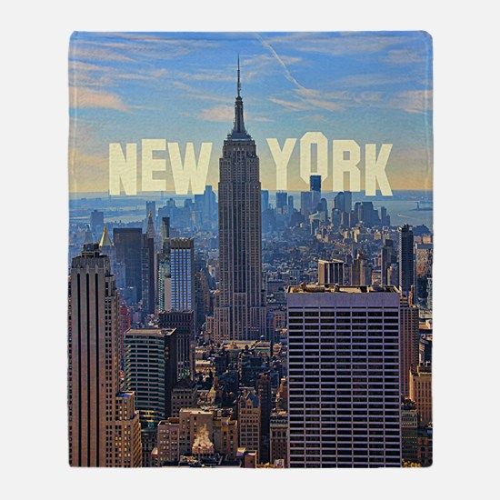 Empire State Building from the Top o Throw Blanket