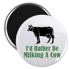 Milking A Cow Magnet