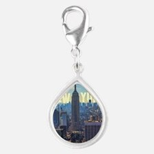 Empire State Building from  Silver Teardrop Charm