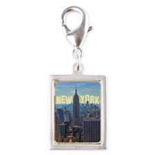 Empire State Building from t Silver Portrait Charm