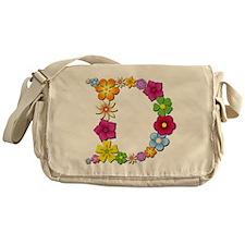 D Bright Flowers Messenger Bag