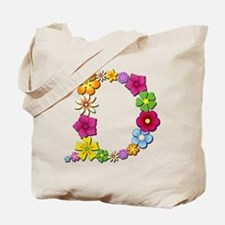 D Bright Flowers Tote Bag