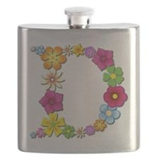 D Bright Flowers Flask
